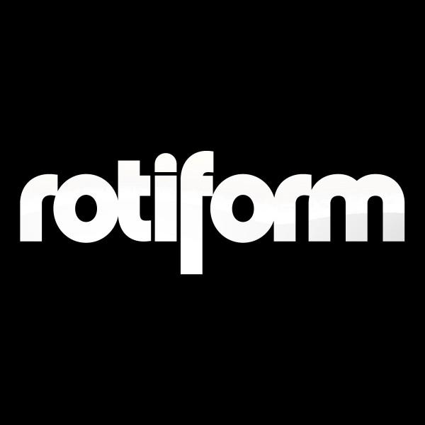 Rotiform Aufkleber Weiß