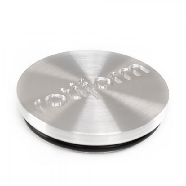 Rotiform Forged Nabendeckel in Silber gebürstet