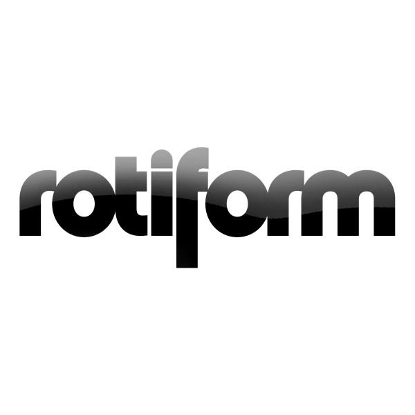 Rotiform Aufkleber Schwarz