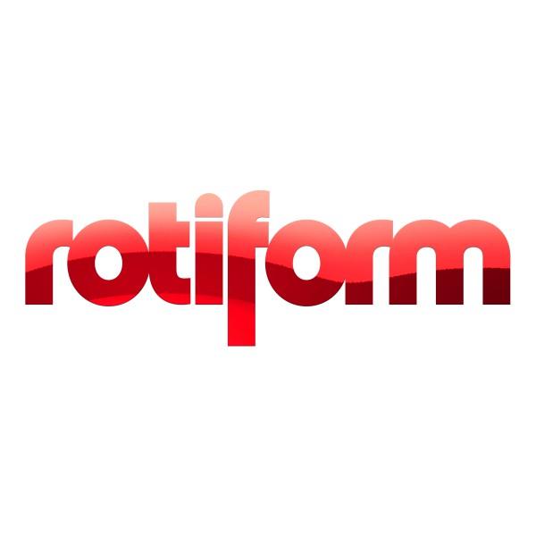 Rotiform Aufkleber Rot Chrom - klein